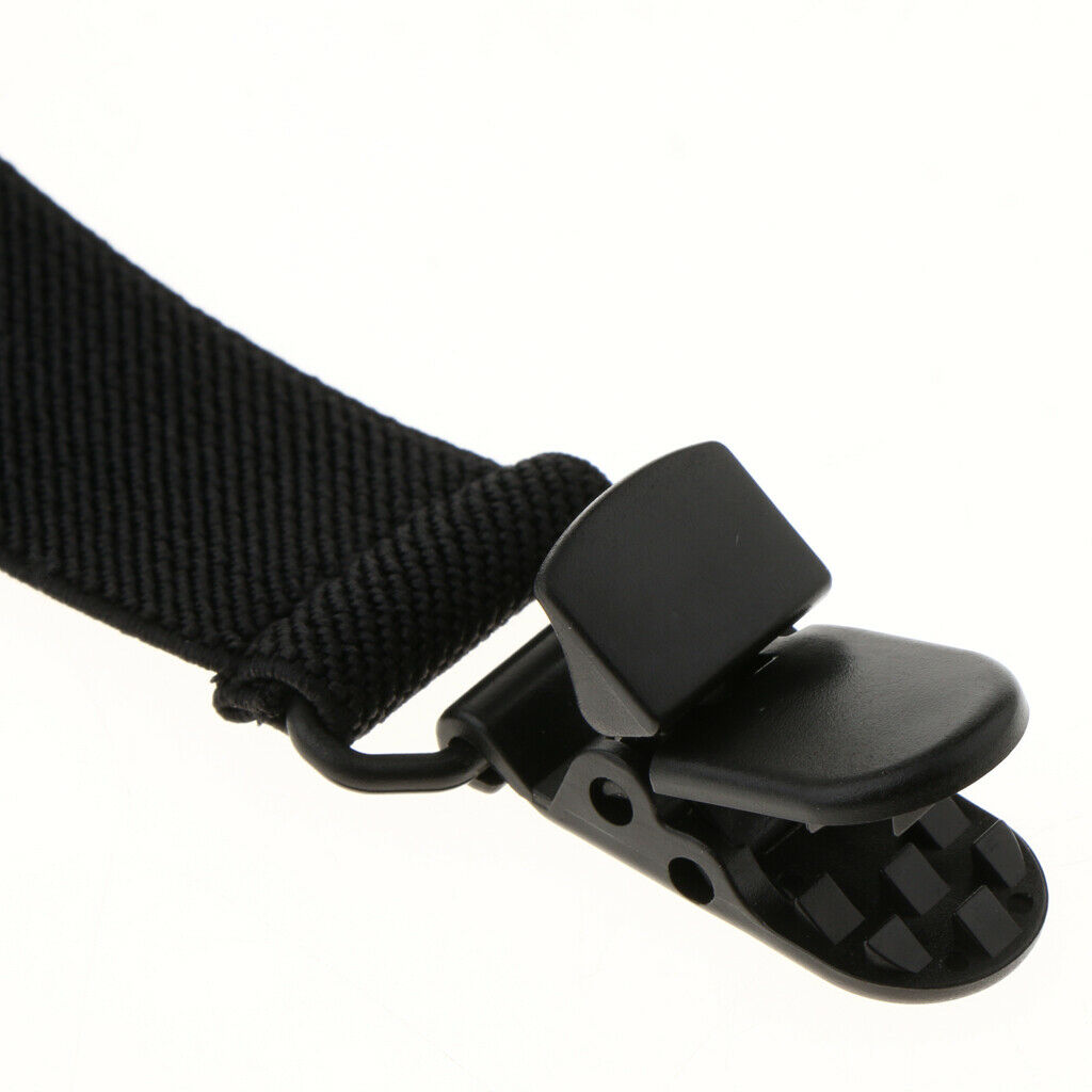 4x Sturdy Elastic Adjustable Boot Straps Leg Fixing Clips for Seat Cushions
