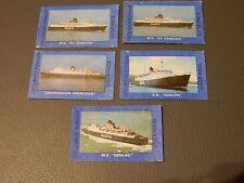 MV ST EDMUND , SENLAC ,  SS AVALON  CALEDONIAN PRINCESS  1970s matchlabels x 5