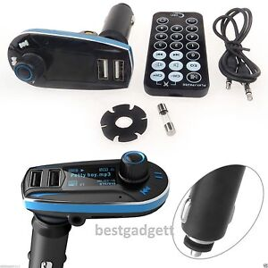Car kit mp3 music player wireless bluetooth fm transmitter radio with usb port ebay - Lettore musicale wifi ...