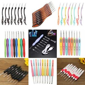 Luz-Led-Suave-de-la-manija-de-aluminio-Conjunto-de-Agujas-de-Tejer-Crochet-Gancho-Tejido-Hilo
