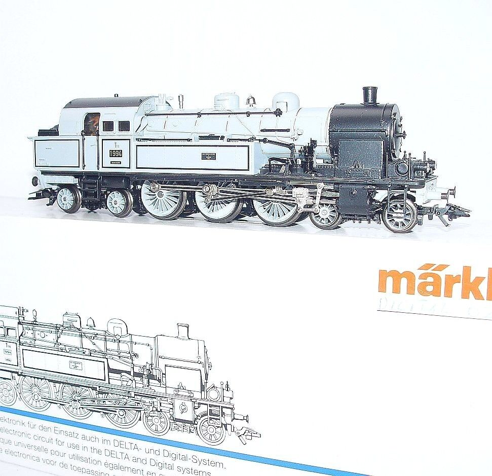 Marklin AC HO 1:87 German  WÜRTTEMBERG  Gris T18 T18 T18 STEAM TANK LOCOMOTIVE MIB RARE 5719ed