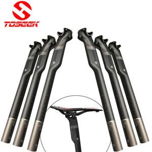 Carbon-Rennrad-MTB-Fahrrad-Sattelstuetze-Matt-Glaenzend-350-400mm-Bike-Seatposts