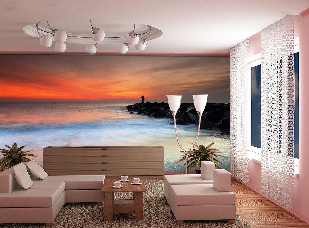 3D Sunset Glow Ocean 7 Wall Paper Murals Wall Print Wall Wallpaper Mural AU Kyra