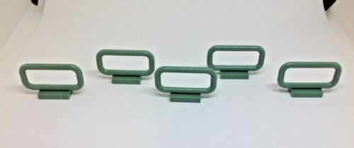 5 X LEGO PART 6187  GREEN  1 x 4 x 3 BARS .FREE POSTAGE
