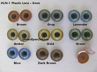 8 Pair 5mm Doll Eye Lens Puppet, Troll, Jewelry Design, Sculpture, Doll Ln-1