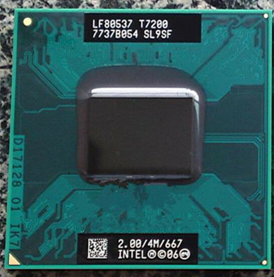 Intel Core 2 Duo T7200 SL9SF 2.0GHz/4M/667MHz CPU LF80537GF0414M