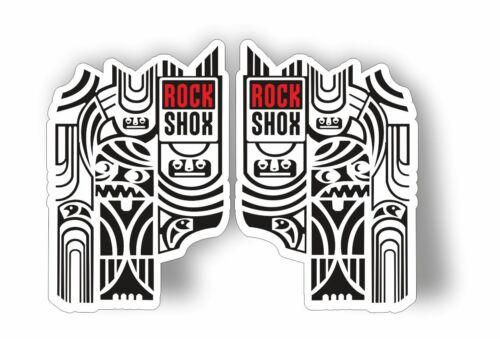 Rock Shox Totem Mountain Bike Cycling Decal Kit Sticker Adhesive White Black