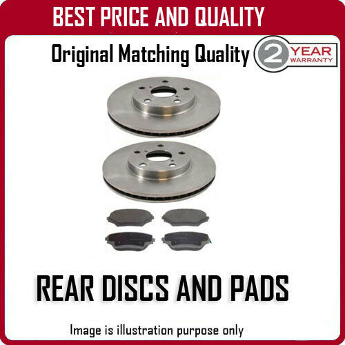 REAR DISCS AND PADS FOR RENAULT ESPACE 2.2 DCI 10//2000-2//2003