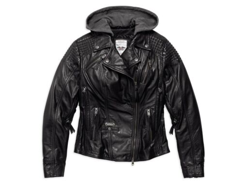 Triplevent Leather Hood Women Mantle Harley Jacket 97145 2w Xl L Davidson S 17vw ZqwxZC4
