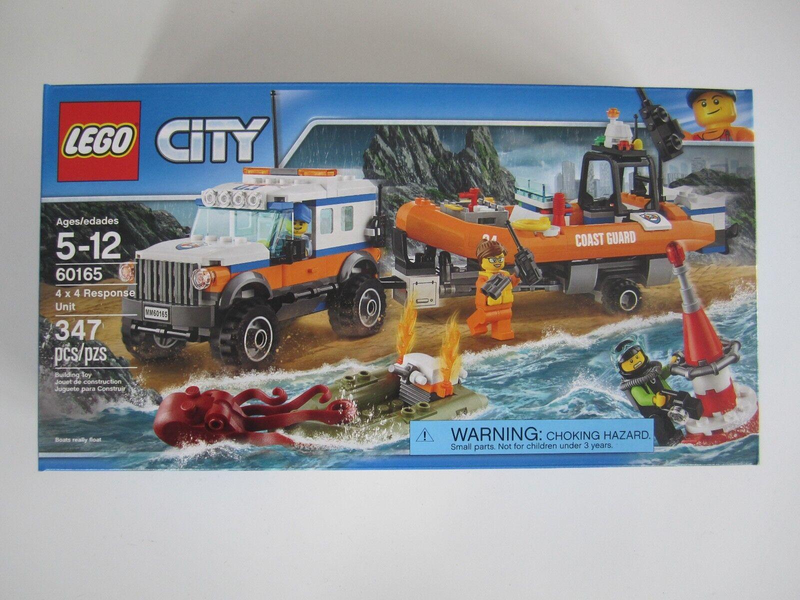 60165 LEGO City 4 x 4 Coast Guard Response Unit Factory Sealed New in Box