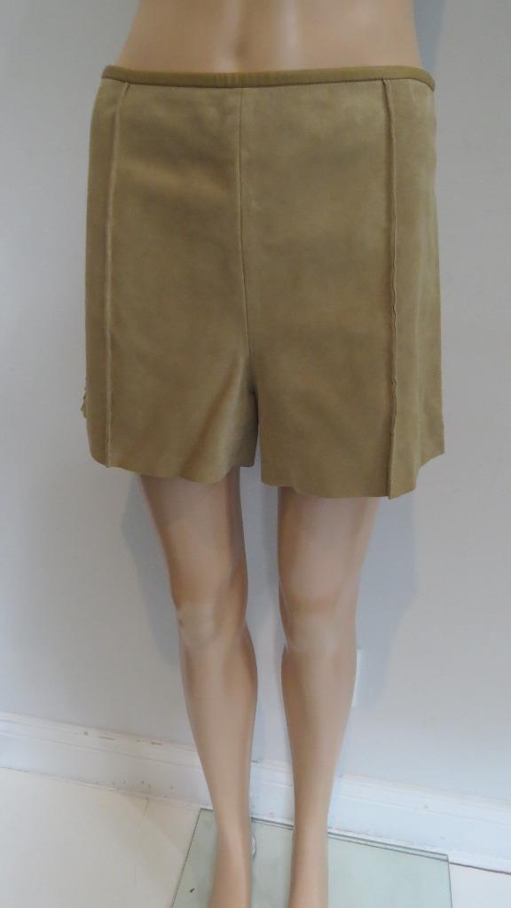 Chloe Beige Gamuza con cintura alta pantalones  cortos de Split Pantorrilla Talla 38  El nuevo outlet de marcas online.