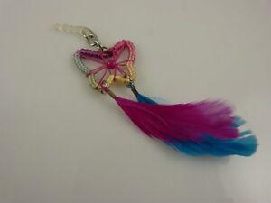 butterfly-feather-rainbow-dangle-cell-phone-Ipad-charm-ear-cap-dust-plug