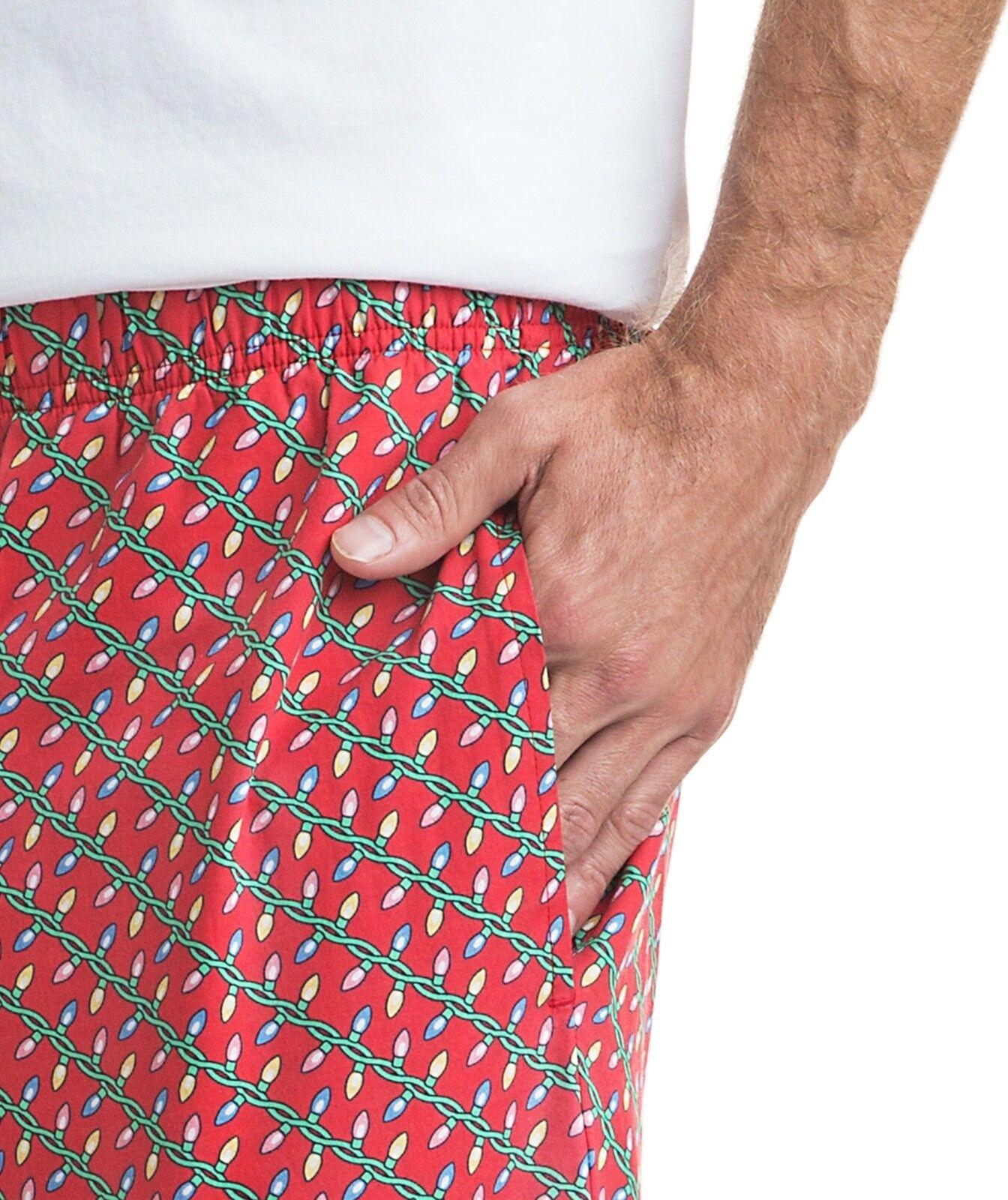 NWT Vineyard Vines - Lounge Pants-Holiday Lights Men's Pajama D47