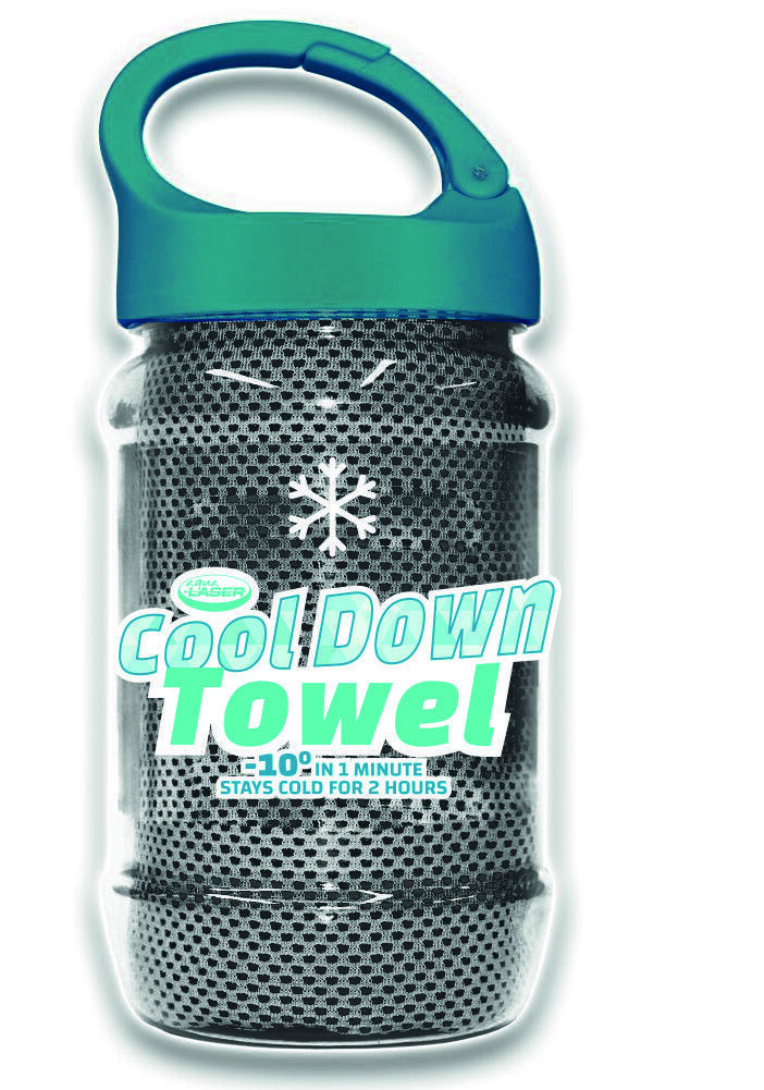 24x Cool Down Towel nur GRAU Kühltuch Sommerhitze Schweiß Schmerz Sonnenbrand