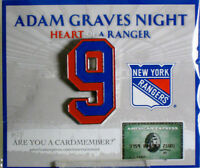 Adam Graves Retirement Night Jersey Banner #9 Pin NY Rangers Sealed SGA MINT