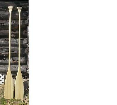 "Two Spruce Wooden Boat Paddles 57"" Long Oars BRAND NEW READY TO USE"