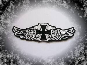 """Bien Informé Iron Cross, Wings, écusson, Patch, Aufbügler, Chopper, Biker, Iron On, Badge-fnäher,patch,aufbügler,chopper,biker,iron On,badge"""" afficher Le Titre D'origine RafraîChissant Et"""