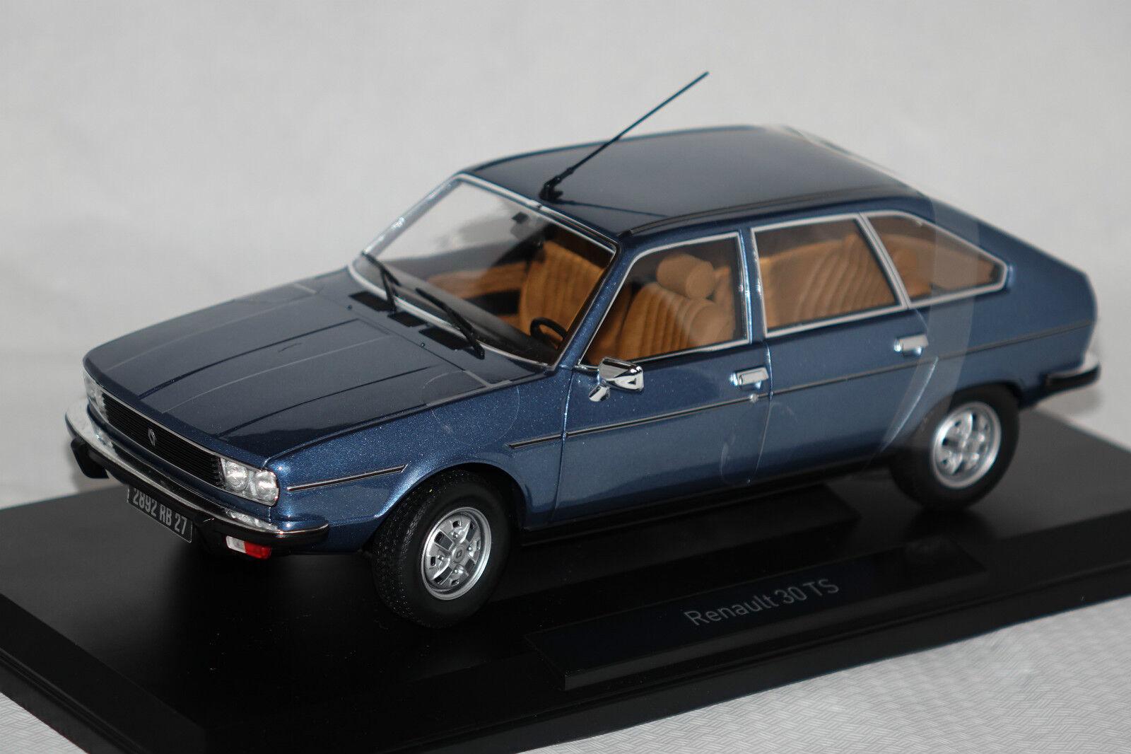 RENAULT 30 TS 1978 bleu métallisé  1 18 Norev NOUVEAU & NEUF dans sa boîte 185270  les derniers modèles