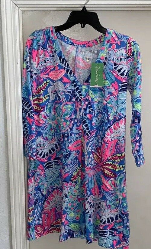 NWT Lilly Pulitzer Long Sleeve Amina Dress Fantasy Garden Size XS Sold Out