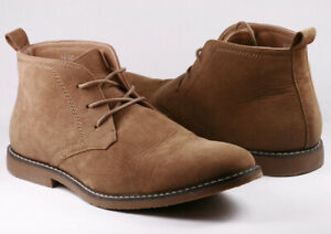 taupe tan men's lace up casual fashion ankle chukka boots