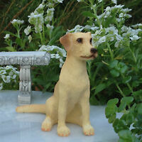 Miniature Dollhouse Fairy Garden Sitting Yellow Lab Labrador Dog