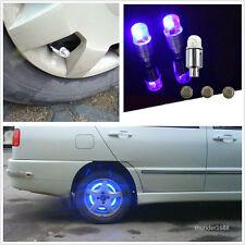 4Pcs Blue ED Car SUV Wheel Tyre Tire Air Valve Stem Caps Decoration Light Lamp