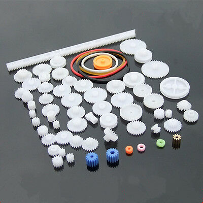 60 kinds of plastic gear package motor gear gearbox robot model accessories DIY