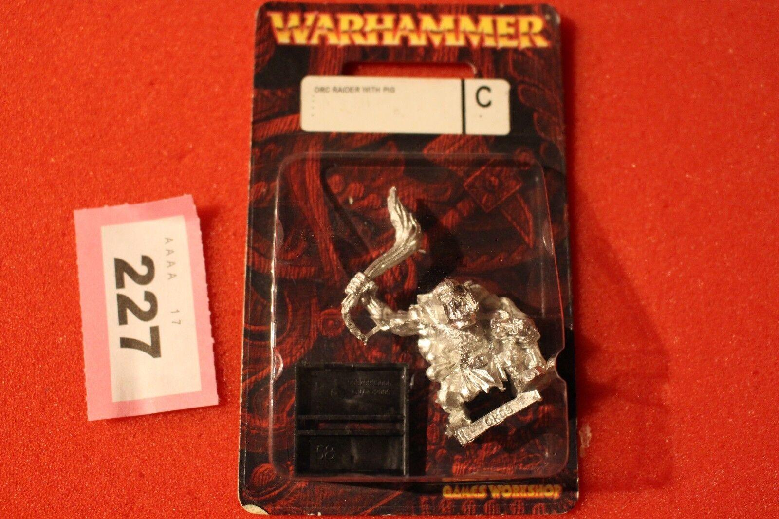 Games Workshop Warhammer Fantasy Orcs Raider with Pig Orc Metal BNIB New OOP GW