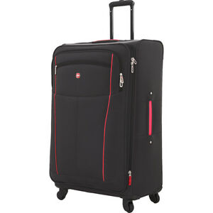 Swissgear Travel Gear 6560 28 Quot Spinner Luggage Black Softside Checked New 721427017609 Ebay