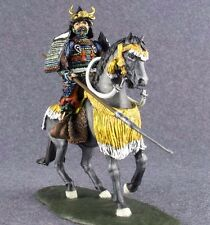 Hand Painted Figure Medieval 1/32 Japanese Samurai Cavalry Toy Soldiers 54mm