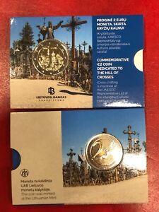 Lituania 2 Euro Commemorativo 2020 COLLINA delle CROCI Coin Card