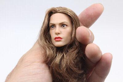 Mirriro 1//6 Angelina Jolie Head Sculpt Suntan F 12/'/' PH HT Female Action Figure