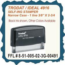 Ffl 1 Line Trodat Printy 4916 Self Inking Custom Rubber Stamp