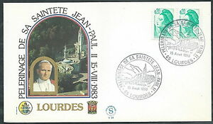 1983 Vaticano Viaggi Del Papa Francia Lourdes - Sv