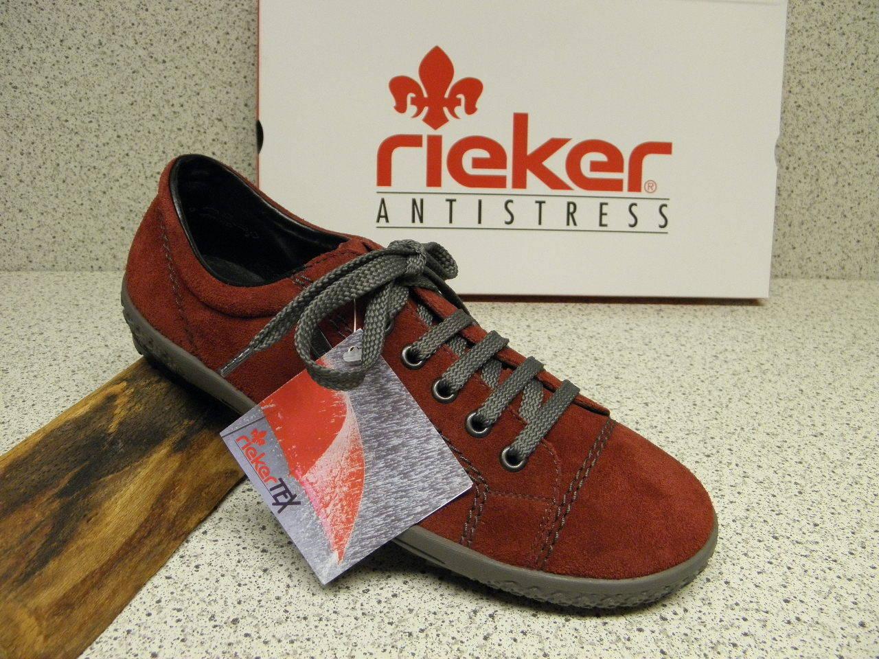rieker ® ROTuziert,  Leder + gratis Premium - Socken M6104-36 (R378)