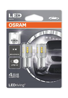 OSRAM LED BIANCA FREDDA 6000K lampadine a baionetta P21W 382 BA15s 7456CW-02B