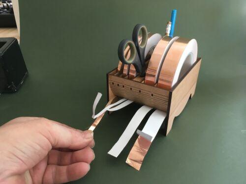 Vidrieras Dispensador de cinta de lámina de cobre//herramientas Roble enfrentó varios tamaños