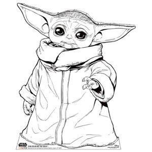 COLOR ME CHILD Star Wars Mandalorian CARDBOARD CUTOUT Standup Standee Baby Yoda