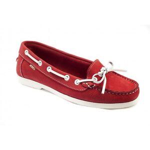 2ca01845a3 La imagen se está cargando xti-mujer-Zapatos-Nauticos-ROJO