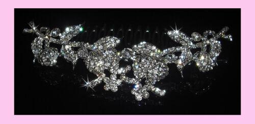 GBT045 Crystal Italian Designer Bridal French Pleat Hair Comb