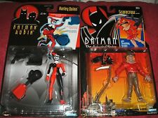 KENNER HARLEY QUINN AND SCARECROW  FIGURES FACTORY SEALED ON HIGH GRADE CARDS