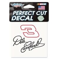 Dale Earnhardt Sr 3 Perfect Cut Decal 4 X 4 By Wincraft Free Ship