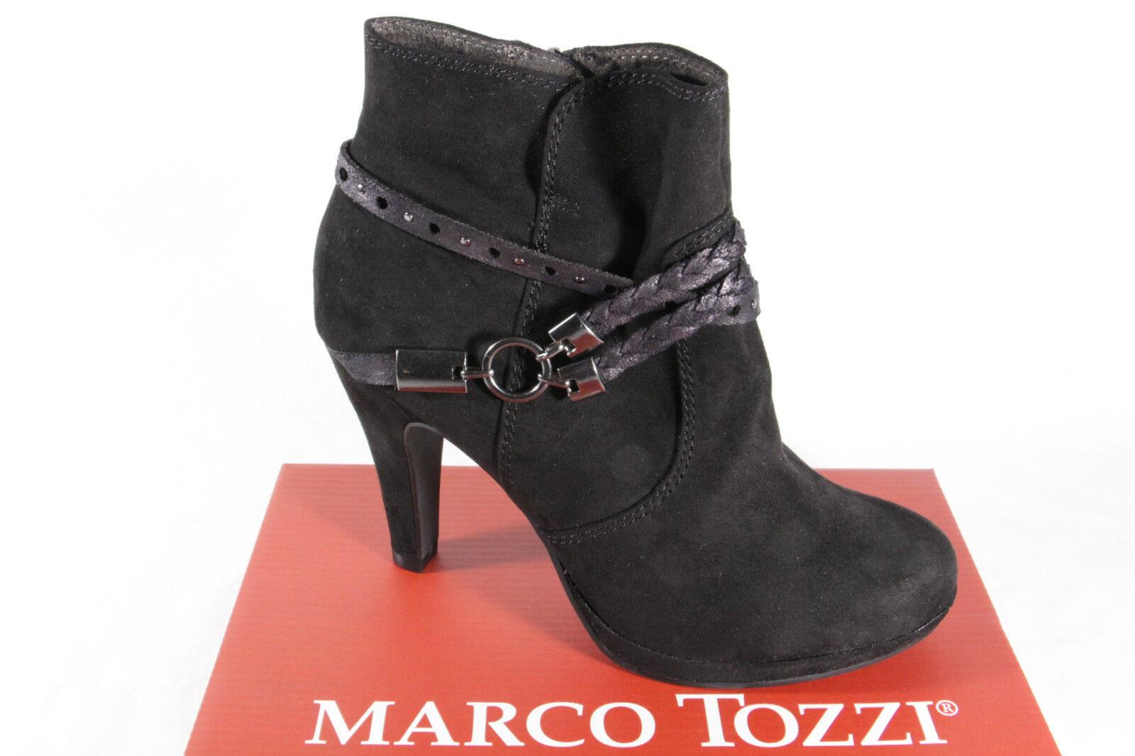 Marco Tozzi Stiefel, Stiefeletten, schwarz, Reißverschluß, gefüttert 25075 NEU