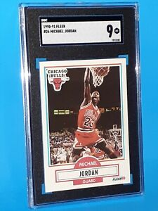 1990-91 Fleer #26 Michael Jordan SGC 9 MINT - PSA BVG Comp - Investment