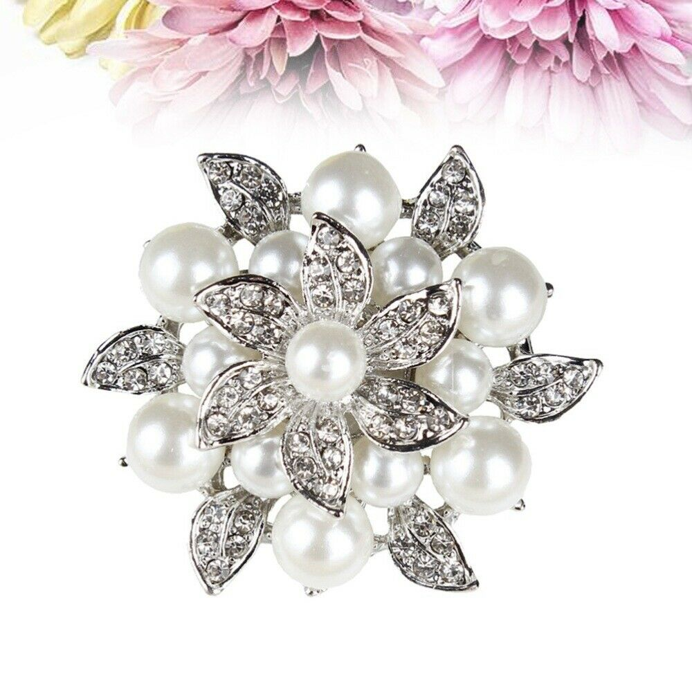 2PCS Fashion Flowers Crystal Shoe Buckles for Shoe Decoration Wedding Party