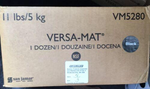 SJMVM5280BK San Jamar Versa-Mat Bar-Shelf Plastic Liner Blk 12w x 12d x .25h
