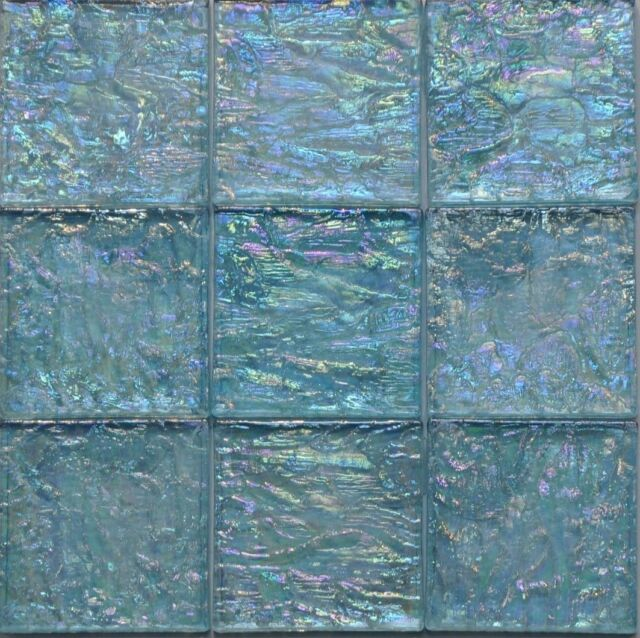 3//4 x 3//4 Blue Violet Glass Mosaic Wall Tile Backsplash Kitchen Pool Bath