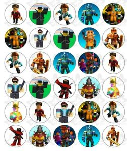 30 Roblox Edible Paper Cupcake Toppers Birthday Party Image - checklist roblox toys roblox birthday cake clip art