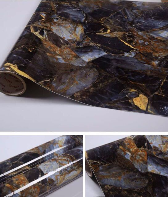 Self Adhesive Marble Contact Paper Glossy Peel N Stick Granite Look