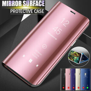 new style 4ee47 6d623 Details about Flip Smart Clear View Mirror Stand Case Cover For Samsung  Galaxy J6 A6 Plus 2018